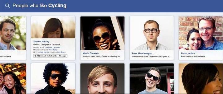 el motor de busquedas de Facebook