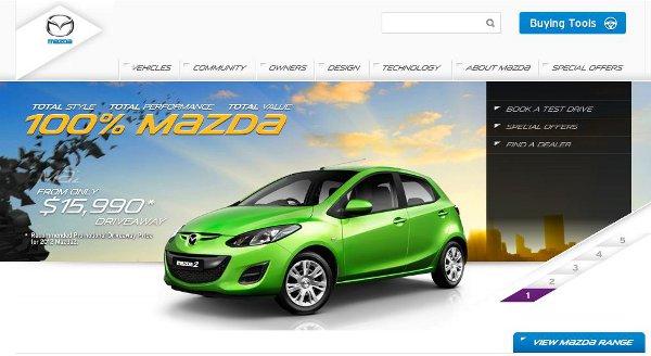 mazda desarrollado en sitecore