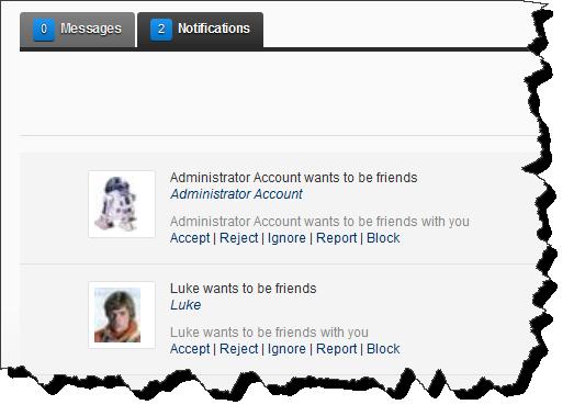 perfiles de usuario del modulo Active Social de DotNetNuke 6.2