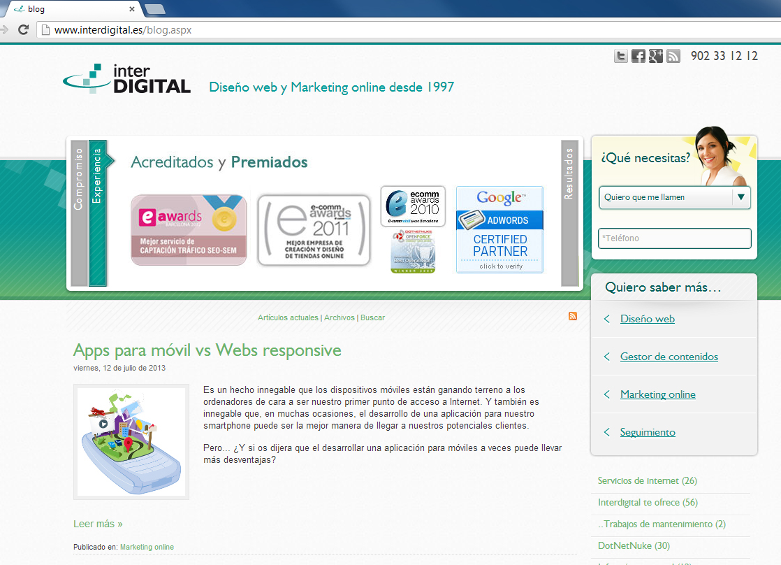 Web Interdigital