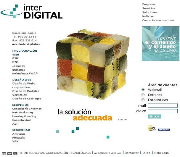 diseño web 2004
